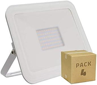 LEDKIA LIGHTING Pack Foco LED Slim Cristal 100W Blanco (4 un) Blanco Cálido 3000K: Amazon.es: Iluminación