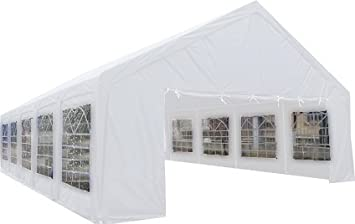 20u0027 x 40u0027 ft Outdoor Wedding Party Tent Gazebo Carport Shelter Garage Rental White  sc 1 st  Amazon.com & Amazon.com : 20u0027 x 40u0027 ft Outdoor Wedding Party Tent Gazebo ...