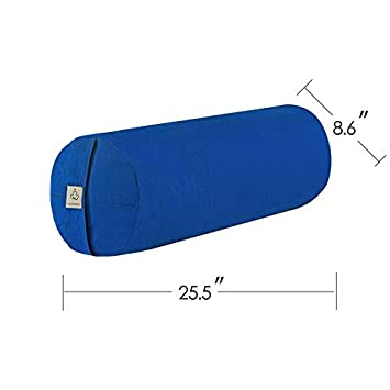 Amazon.com : MULTIRIVER Supportive Round Cotton Yoga Bolster ...