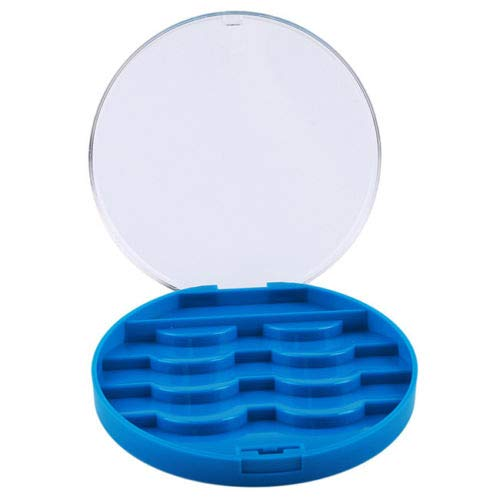 False Strip Eyelash Mini Travel Case Lash Storage Box Organizer Container S (Colors - Baby Blue)