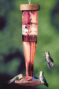 Ruby Hummingbird Lantern (Schrodt Designs HBL-P-R Hummingbird Lantern Paradise Ruby)