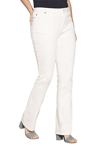 Roamans Women's Plus Size 5-Pocket Bootcut Jeans With Invisible Stretch by Roamans