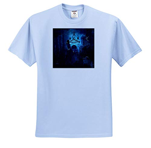 Sandy Mertens Vintage Halloween Designs - Vintage Halloween Haunting Night at The Cemetery, 3drsmm - T-Shirts - Light Blue Infant Lap-Shoulder Tee (18M) (ts_290248_75) ()