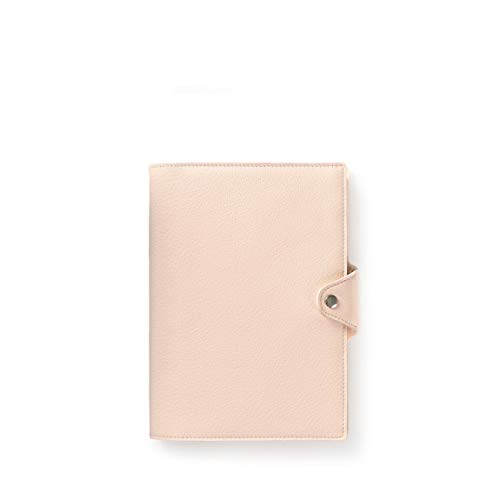 Medium Snap Journal with Pen Loop - Full Grain Leather Leather - Rose (pink)
