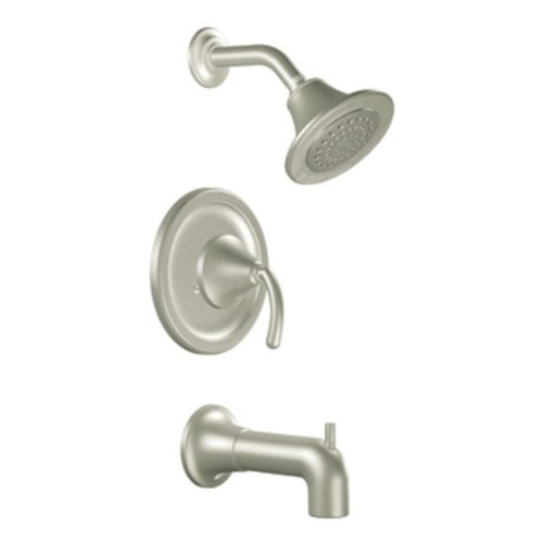 Moen TS2156BN Icon Moentrol Tub and Shower Trim Kit without Valve, Brushed Nickel