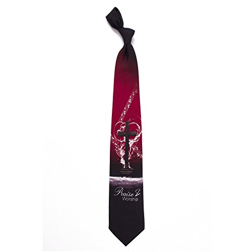 Eagles Wings Men's Finely Crafted Inspirational Necktie - Praise & Worship Him (Bow Genesis Outlet)