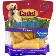 DPD Rawhide Basted Chips Value Pack - Size: 1 LB - Color: Chicken