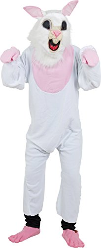 Adults Halloween Fancy Animals Dress Club Costume Party Bunny Jumpsuit White -