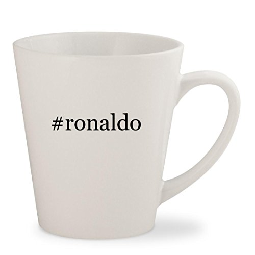 #ronaldo - White Hashtag 12oz Ceramic Latte Mug Cup (Ceramic Signed)
