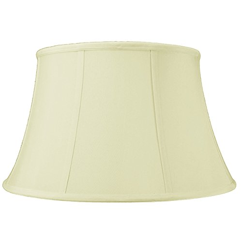 HomeConcept 121710FLES Egg Shell Floor Shantung Lampshade with Brass Spider Fitter by Home Concept, 12