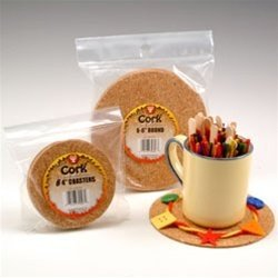 Hygloss Cork Coaster, 4 X 1/8 in, Pack of 24 from Hygloss