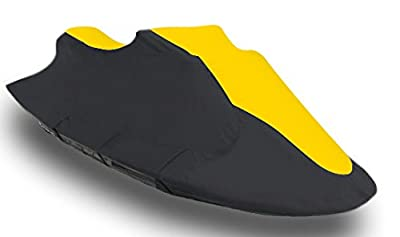 Vehicore Personal Watercraft PWC Jet Ski Cover for Polaris SLTX 1996 1997 1998 1999 black/yellow