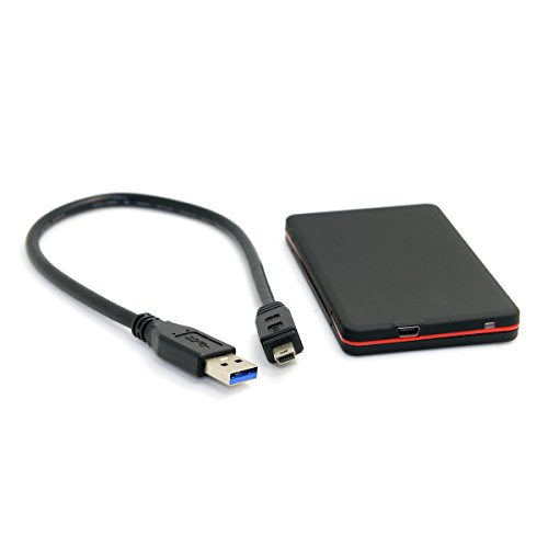 Cablecc 1.8 inch Micro sata 16pin 7+9 SSD to USB 3.0 External Hard disk Enclosure Black for Laptop & PC & ()