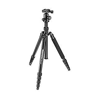 "Manfrotto Element Traveller Small Aluminum 5-Section Tripod Kit with Ball Head, Element Large 64.6"", Black (B01N3YELYZ) 