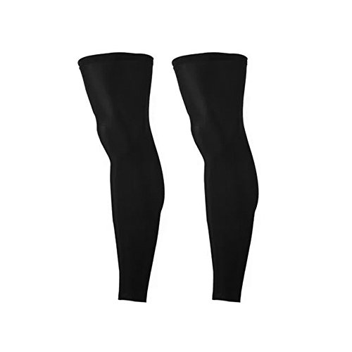 SPORTS COMPRESSION LEG SLEEVES for Women & Men - Boosts Circulation - Aids Faster Recovery - Protect From UV & Abrasions for: Sports & Health (2 leg sleeves) colors: black (Black, Medium) by D&D Threads Plus