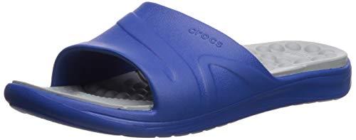 Crocs Reviva Slide Sandal, Blue Jean/Light Grey, 5 US Men/ 7 US Women M US
