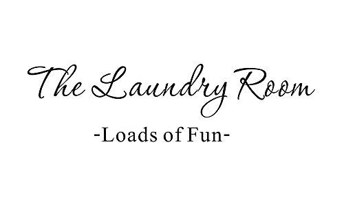 Everysticker4u The Laundry Room Loads of Fun Home Mural Quote Vinyl Wall Sticker Decals Transfer Words Lettering Decor Uplifting Appliques