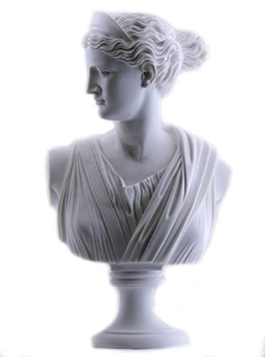(Artemis Diana Bust Head Greek Roman Goddess Statue Handmade Sculpture 19.88