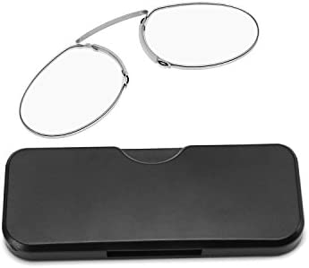 2c1e7f9cb6cc FEISEDY Reading Glasses Nose Resting Pinching No Temple Mini Card Type for  Men and Women B2439