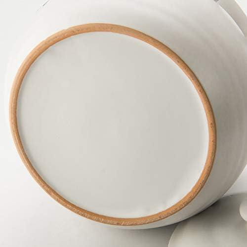 Casserole Casserole Accueil haute résistance à la température ouverte céramique feu casserole soupe Porridge Casserole for le gaz pot d'argile (Size : 3.5L)