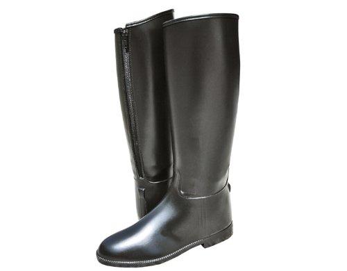 HKM bottes d'équitation pour femme avec fermeture éclair courte & large Noir 35