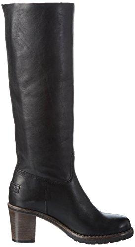 Shabbies Amsterdam SWO03, Stivali Alti 39cm con Imbottitura Leggera Donna Nero (Nero)