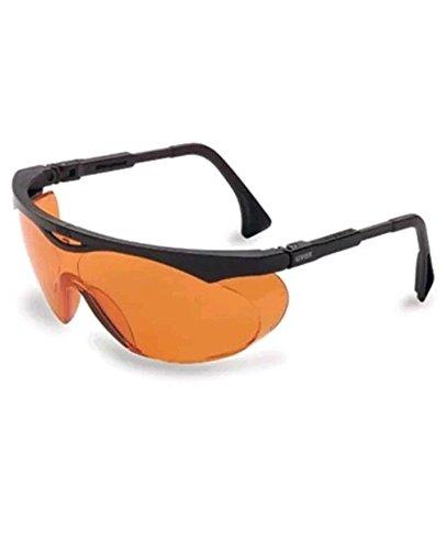 Uvex S1933X Skyper Safety Eyewear, Black Frame, SCT-Orange UV Extreme Anti-Fog
