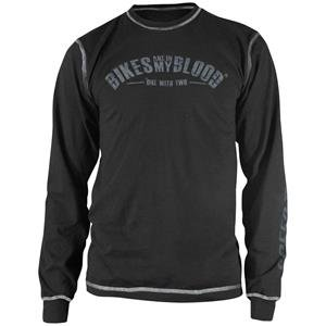 Speed and Strength Bikes Are In My Blood Thermal Shirt - Small/Black