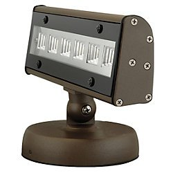 UPC 785988020621, Hubbell Outdoor ALFW6LU5KBZ 11-watt Wide Beam LED Adjustable Forward Throw Wallpack, 120-277-volt, Bronze