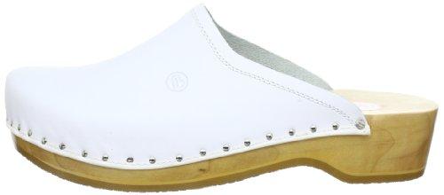 Zuecos unisex Weiß 00407 cuero 100 Weiß Berkemann de Bianco Blanco wXAx7Ow