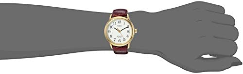Timex Women's Indiglo Easy Reader Quartz Analog Leather Strap Watch with Date Feature 3