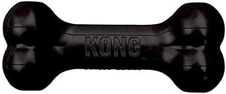 KONG - Extreme Goodie Bone - Hueso para Perro de Caucho, mandíbulas potentes, Negro - para Perros Grandes