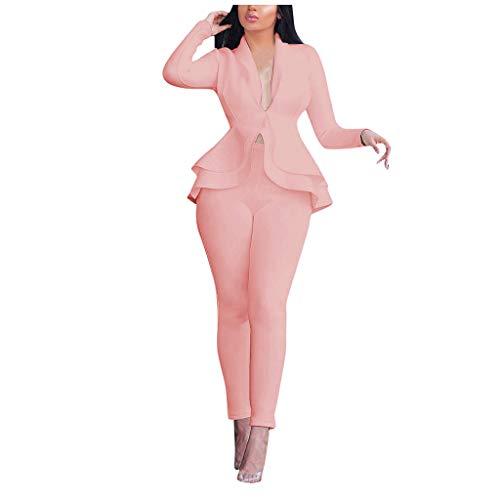 [해외]Dainzuy Womens Two Piece Outfits Blazer Long Sleeve Business Blazers Jacket Ruff Hem Casual Pants Suits Party Clubwear / Dainzuy Womens Two Piece Outfits Blazer Long Sleeve Business Blazers Jacket Ruff Hem Casual Pants Suits Party ...