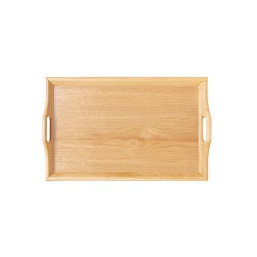 """G.E.T. Enterprises Natural 25"""" x 16"""" Hardwood Room Service Tray Hardwood Room Svc. Trays Collection RST-2516-N (Pack of 1)"""