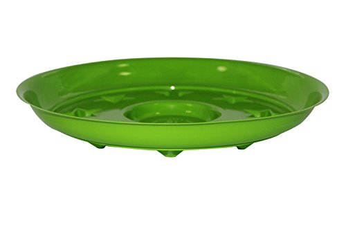 coisound 1688 Round Green Plastic Plants Pot Saucer Trays,for holding Soil and Water Drips,Excellent For Indoor & Outdoor Plants. (5, 12in) by coisound 1688