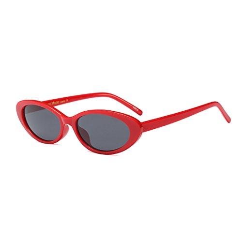 los de Gris vendimia hombres los la de las gafas de Gafas pequeñas mujeres de Inlefen ovales de de Rojo marcos los sol hombres IPBXqw