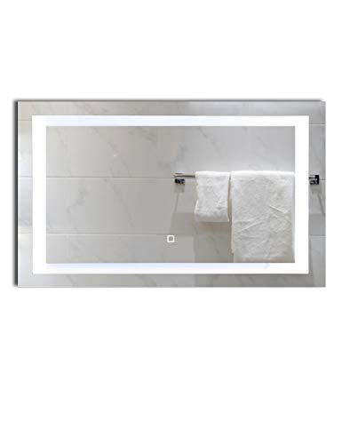 40x24 inch Dimmable LED Lighted Bathroom Wall Mounted Vanity Mirror | Dimmable - Lighting Wall And Bathroom Vanity Mirrors Mounted