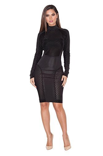 BUETYART Women Bandage Bodycon Dress Sexy Club Dress Party Midi Dress (Party Sexy)