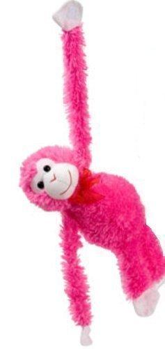 Plush Hanging Valentine's Monkeys, 17¼ In. - 1/ea. - Choose Your Color! (Hot Pink)]()