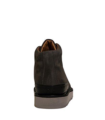 Leder Damen Blackstone Grauem Schnürstiefel in q7wIIOT