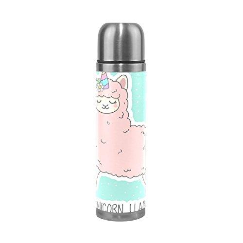 ALAZA Cute Unicorn Lama Stainless Steel Water Bottle Vacuum