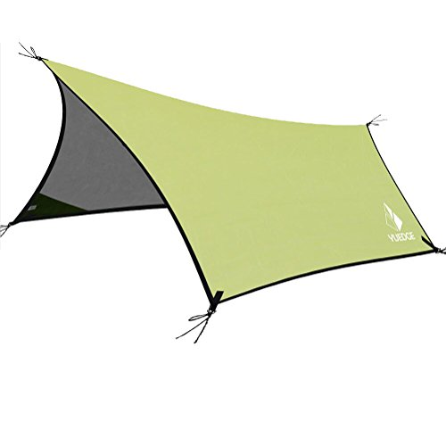 Lightweight Waterproof Tarps Rain Fly – YUEDGE 10×13 Ft Portable Tent Tarp Rain Tarps Shelter Sunshade with Rope and Stakes For Hiking, Backpacking & Travel