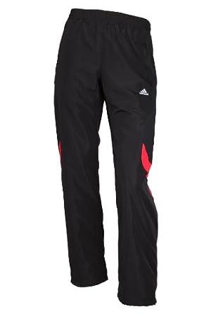 920bacf0ee2b6a Adidas ClimaLite Hose für Herren Sporthosen Trainingshosen Jogginghosen  Freizeithosen woven Poly Turnhosen Männer Schwarz Rot Größe