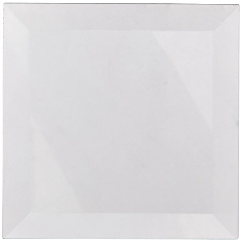 (School Specialty Glass Square Bevel, 4 X 4 in, Clear, Set of)