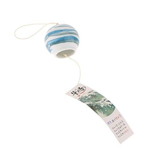 Homyl Ceramic Japanese Wind chimes Lucky bells hanging decorations - B, 2