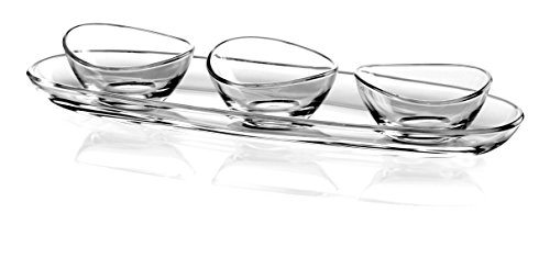 Barski European Glass - Oval - Medium - Serving Tray - 11.5