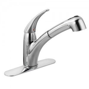 moen extensa single handle kitchen faucet with pull out spray spout