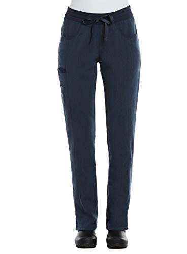Maevn Matrix Pro Contrast Yoga Band Scrub Pants (Large, Heather Navy)