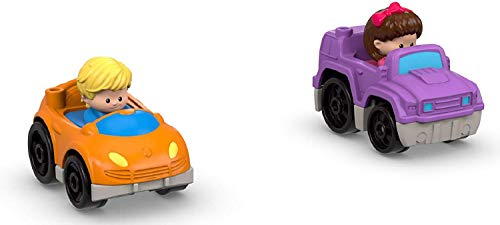 Fisher-Price Little People Sit 'n Stand Skyway Playset - Replacement Cars - 1 Purple Jeep and 1 Orange Sedan