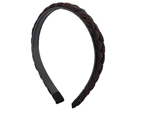 BONAMART ® Elegant Elastisch Haarband Geflochten Braun Blond Stirnband Perücke Damen 24849